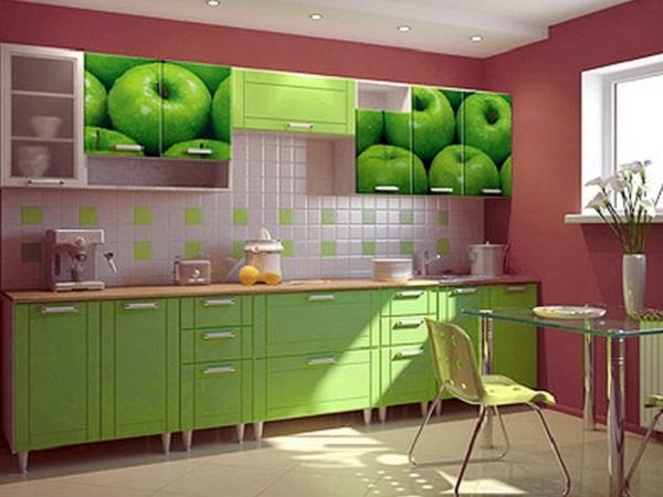 кухненски шкафове с фототапети
