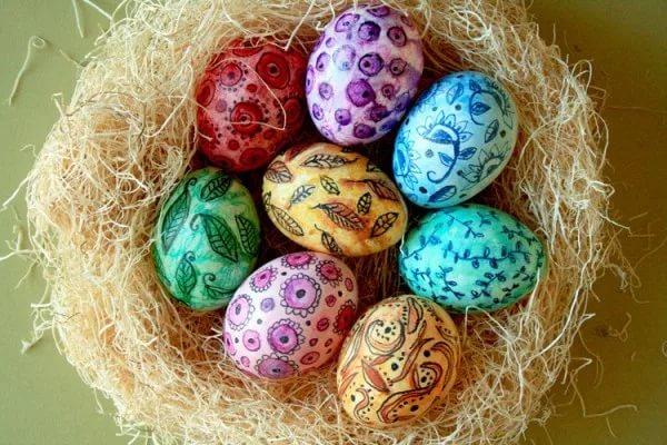 декупаж великденски яйца