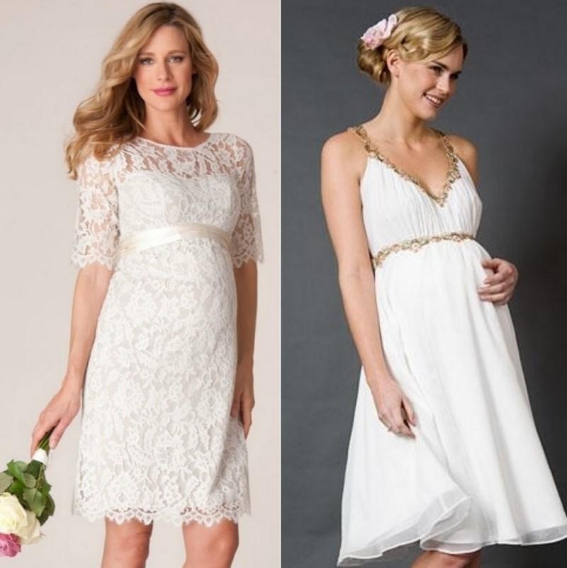 Сватбена рокля за бъдещи майки