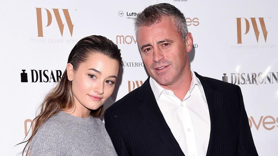 Мат Лебланк с дъщеря си