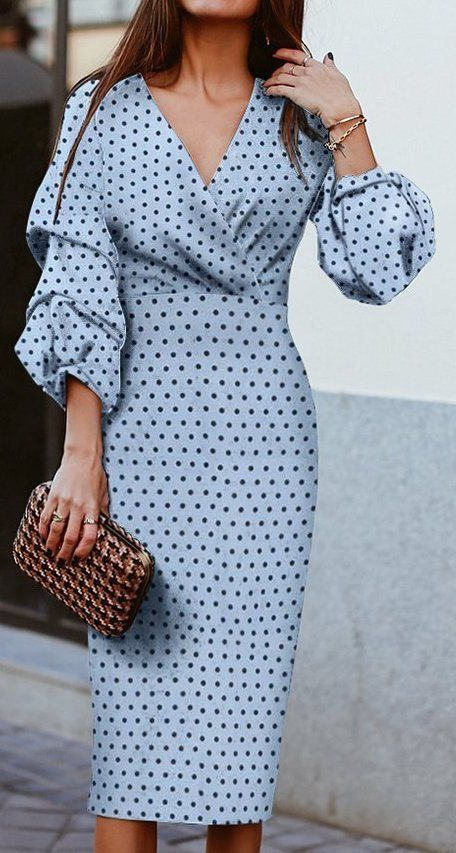 рокля с буфан-ръкав