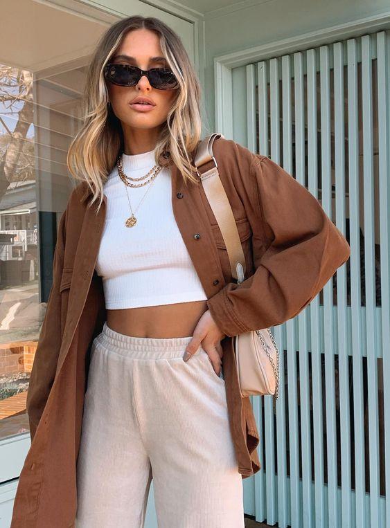 модерно кафяво палто