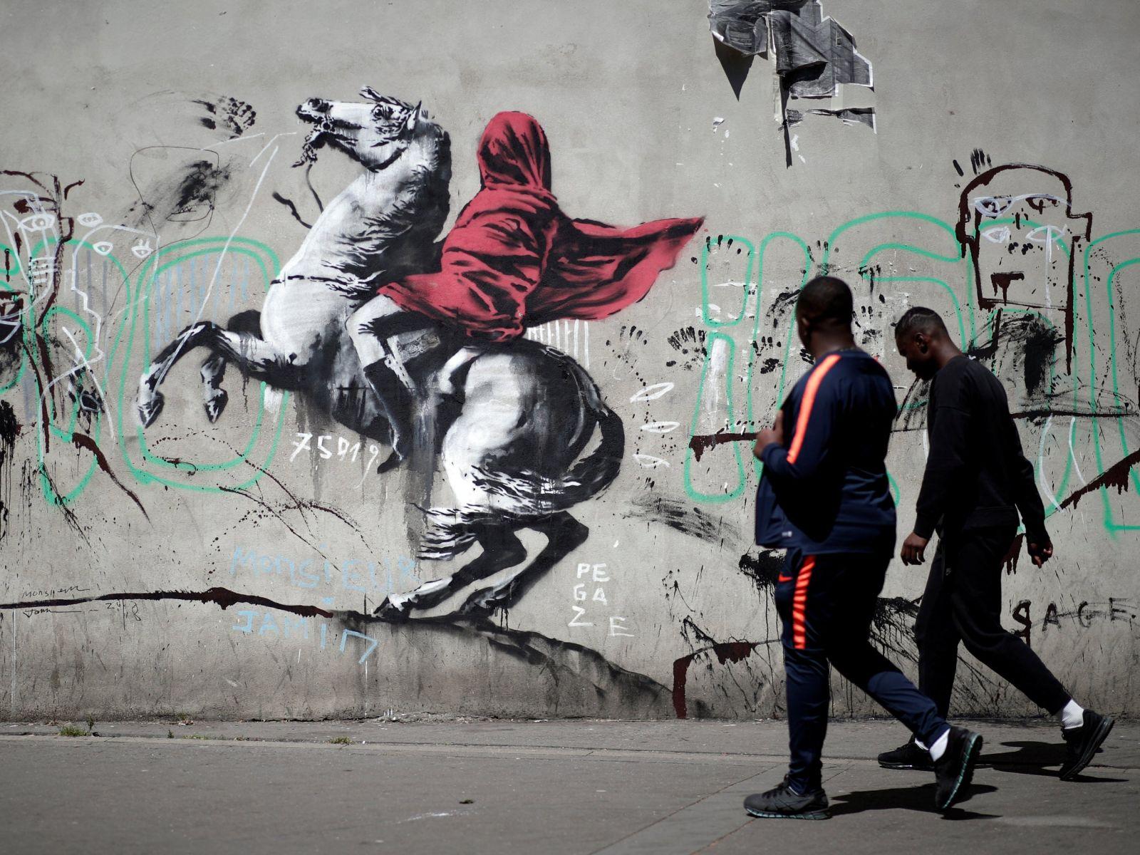 Банкси графити