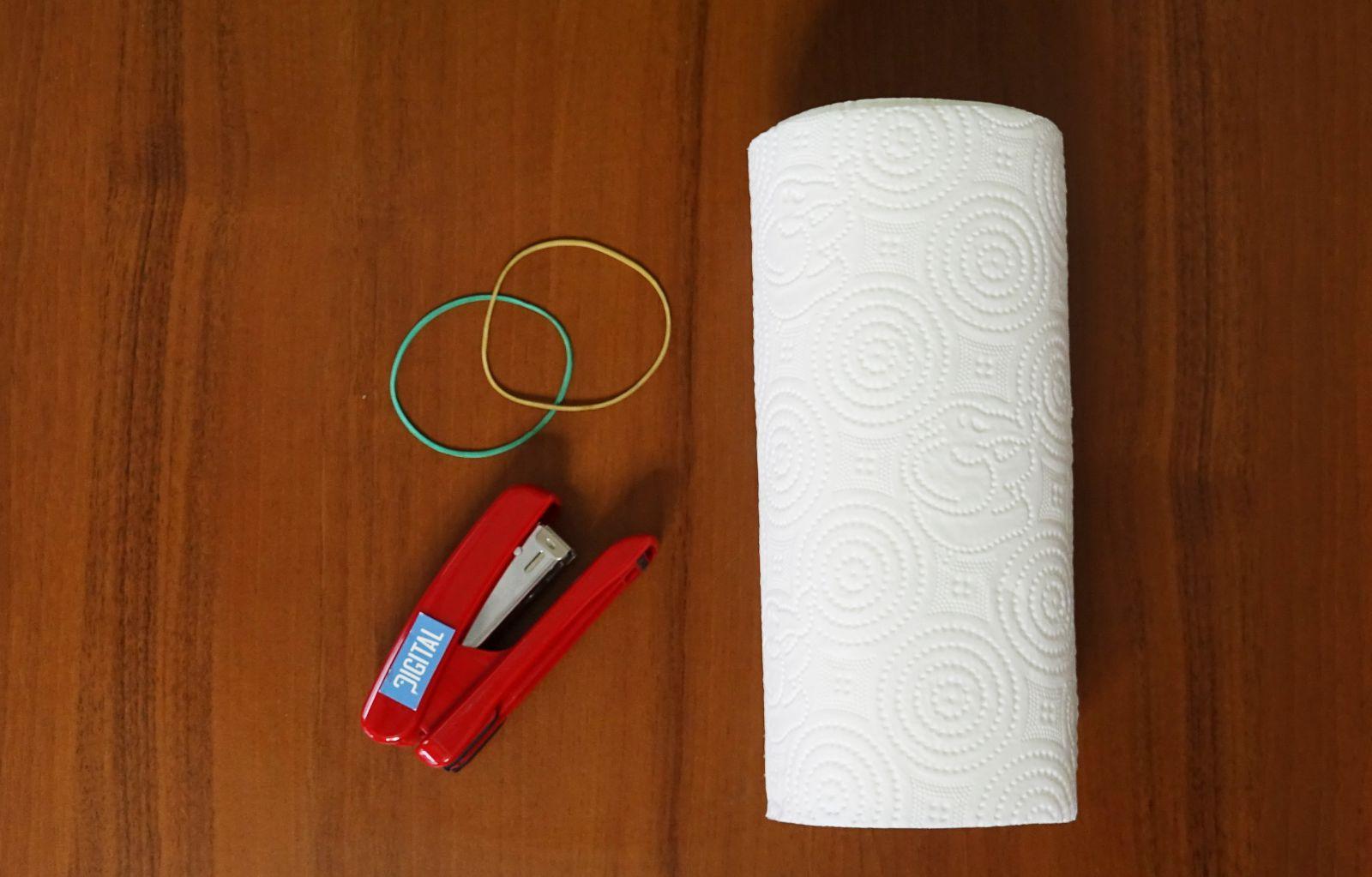 маска от домакинска хартия