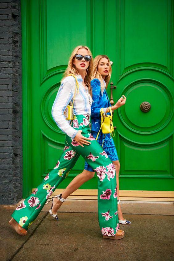 панталон цветен десен