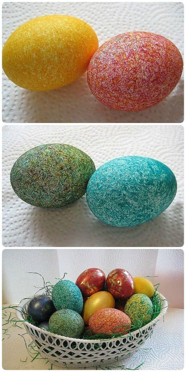 яйца, боядисани с ориз