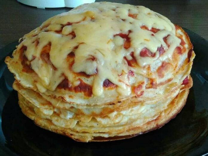 палачинкова торта солена