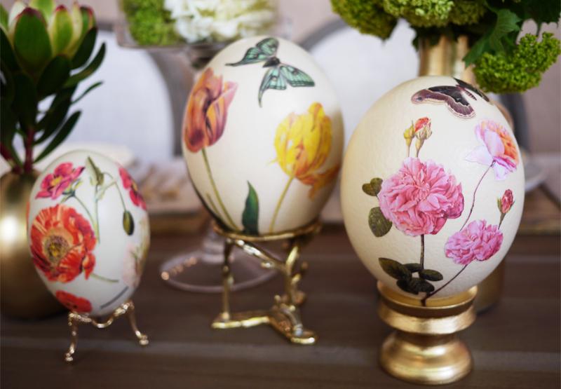 великденски яйца с цветя