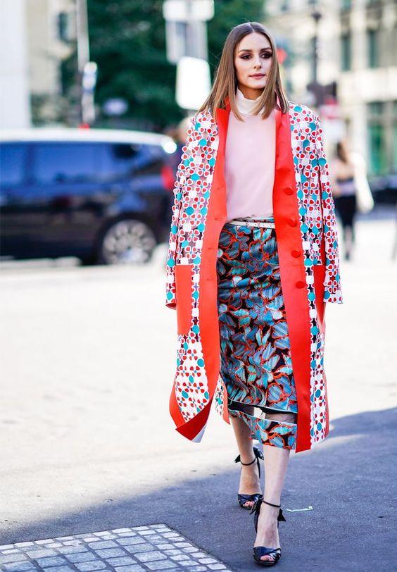 палто цветен десен