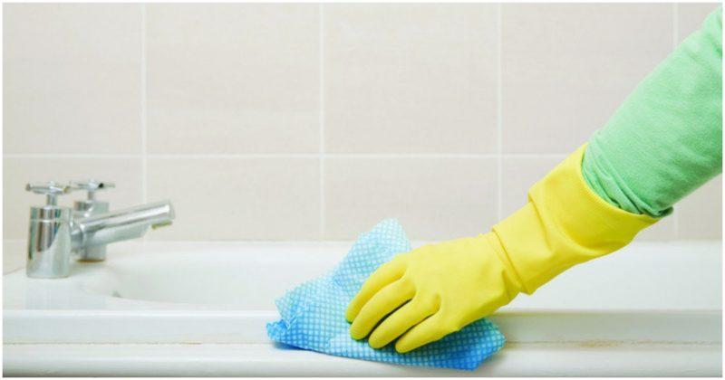 чистене на банята