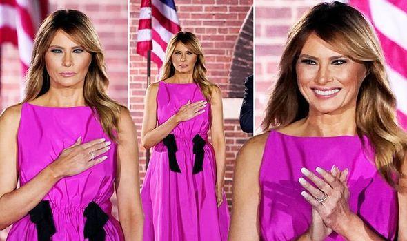 Мелания Тръмп рокля фуксия
