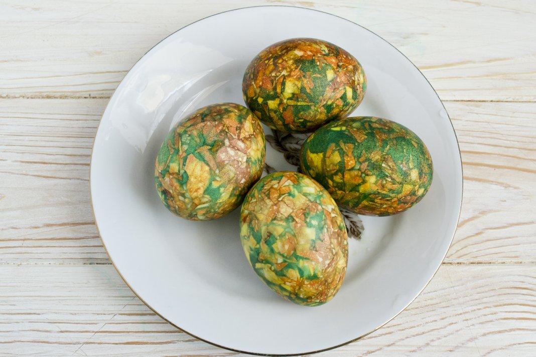 зелени мраморни яйца