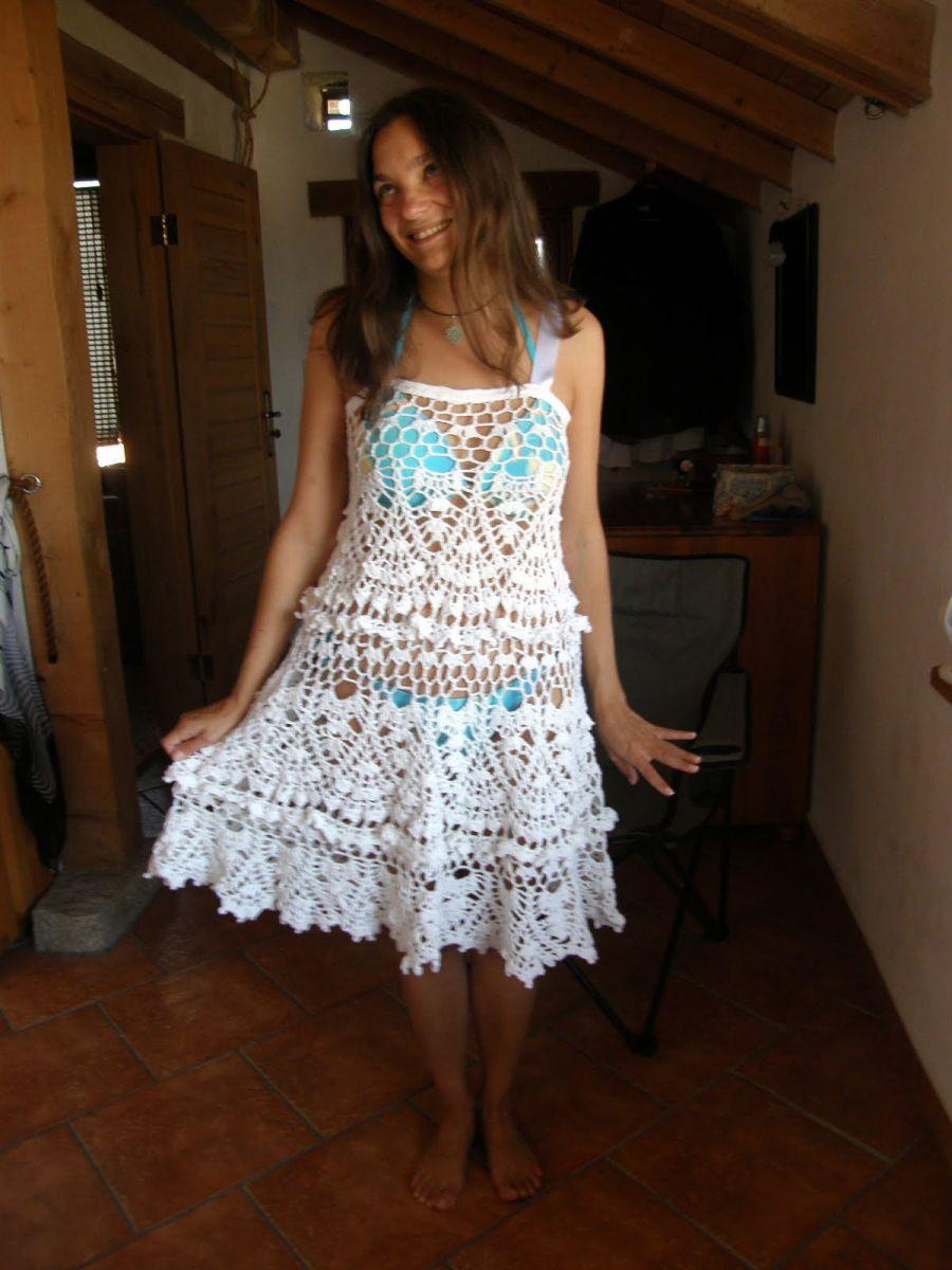 плетена лятна рокля