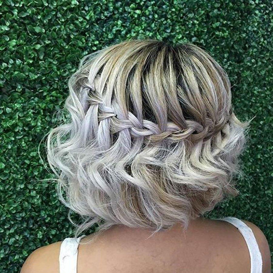 френски водопад къса руса коса