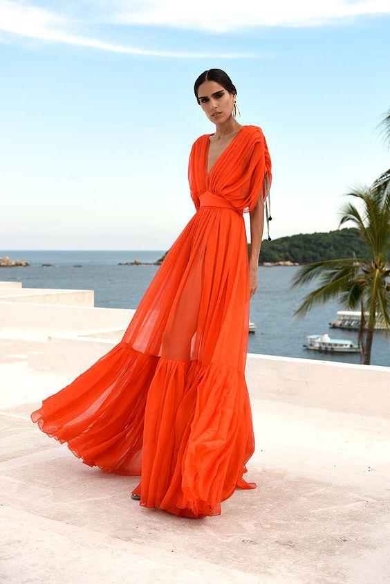 романтична ярка рокля