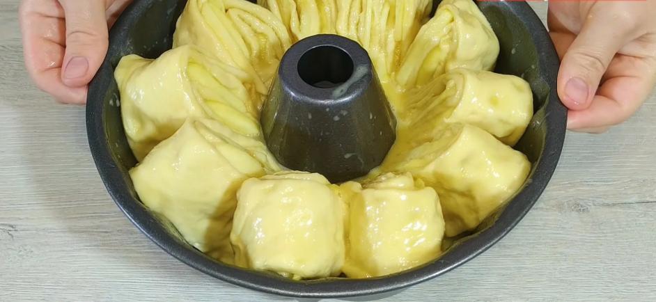 пухкава ябълкова пита