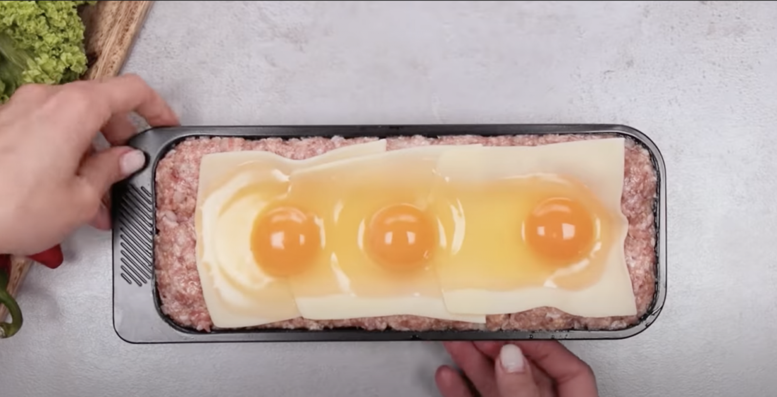 кайма с яйца