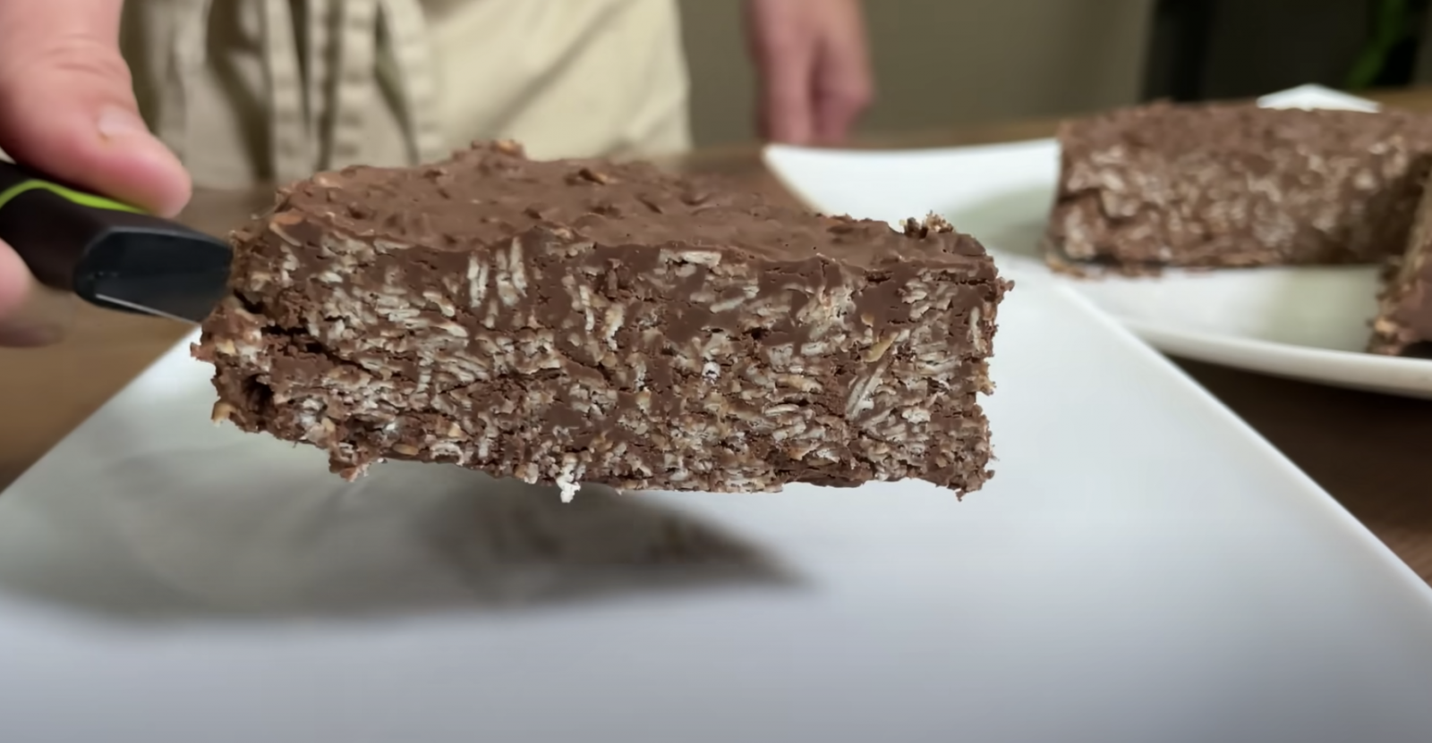 парче шоколадова торта