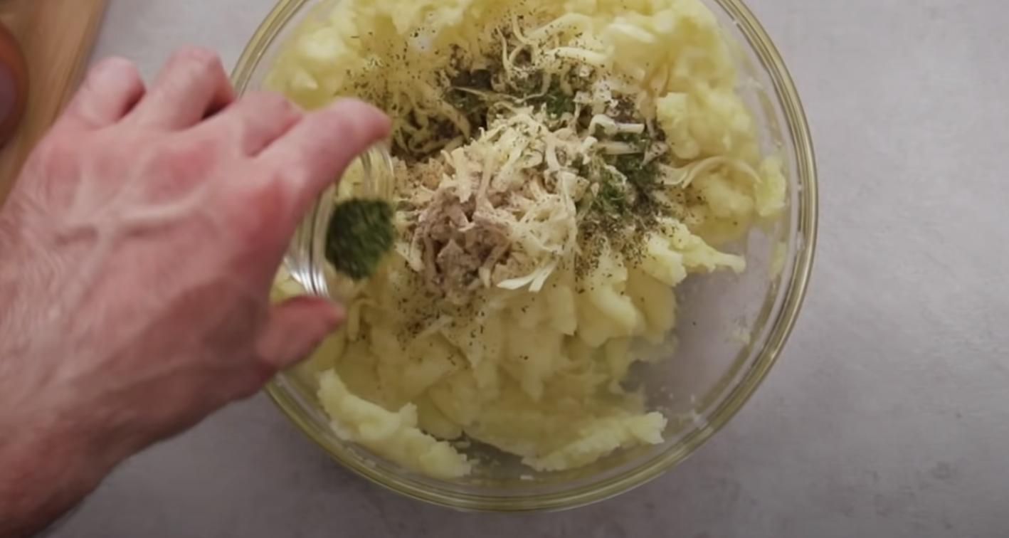 картофено пюре овкусено