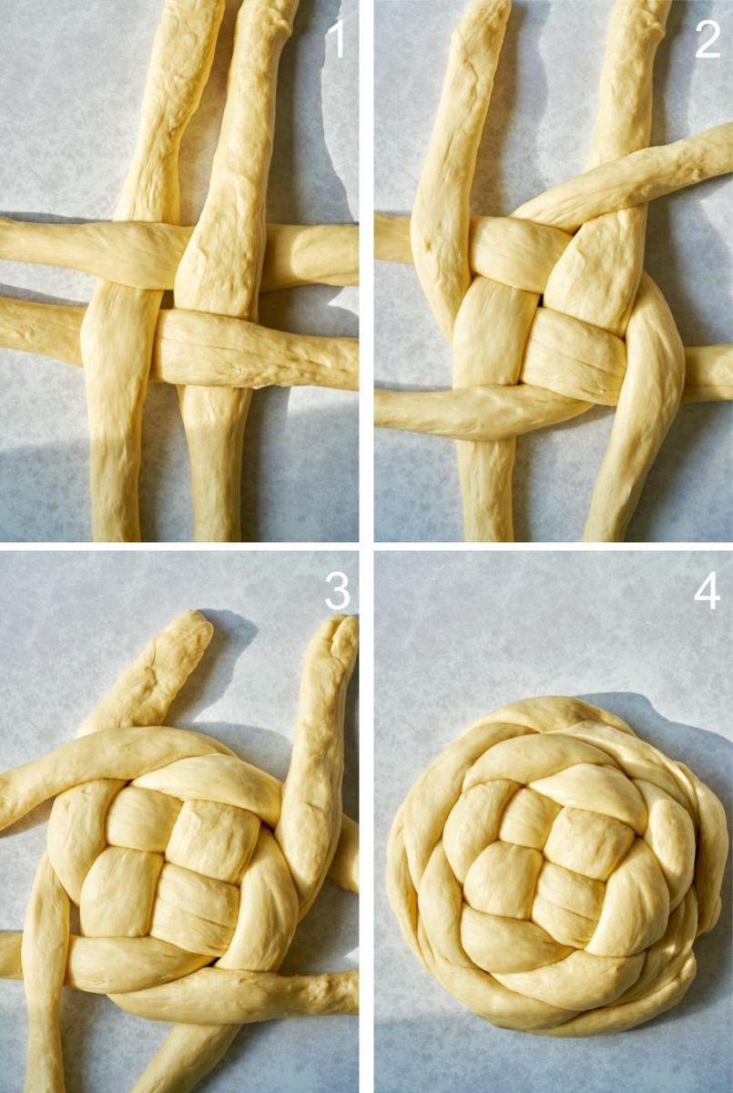 Плетене на козунак Копче
