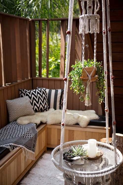 балкон в дървесина