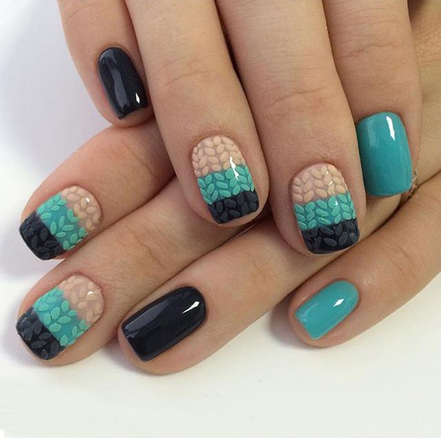 маникюр с плетени нокти
