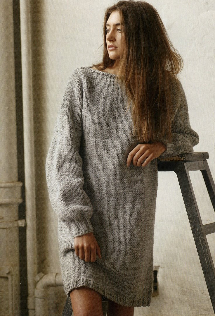 Sweater dress pattern from the new Patons Family and Homewares pattern book .: