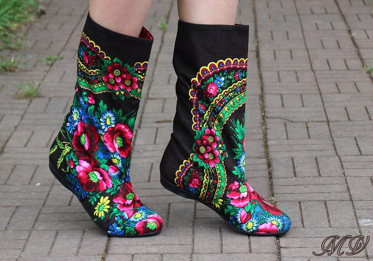 елегантни текстилни ботуши
