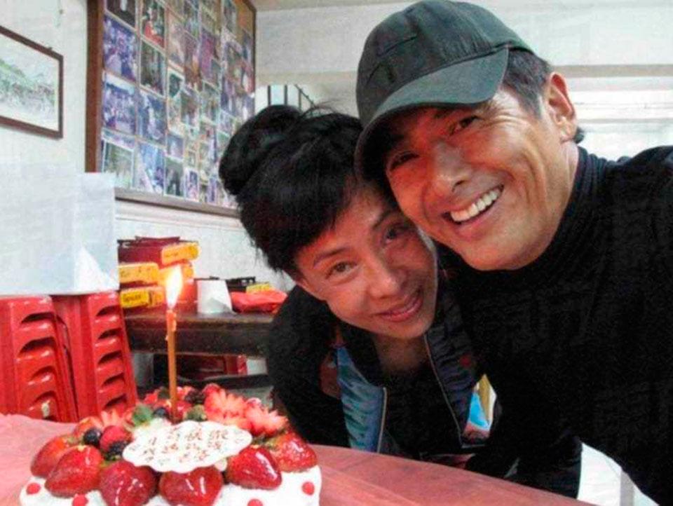 Чоу Юнфат със съпругата си