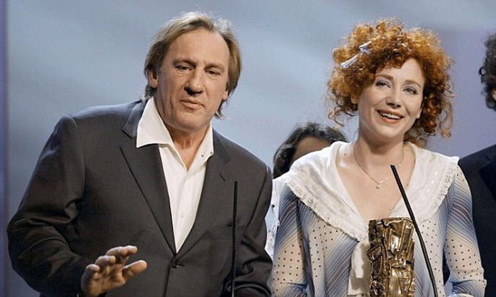Жули Депардийо с баща си
