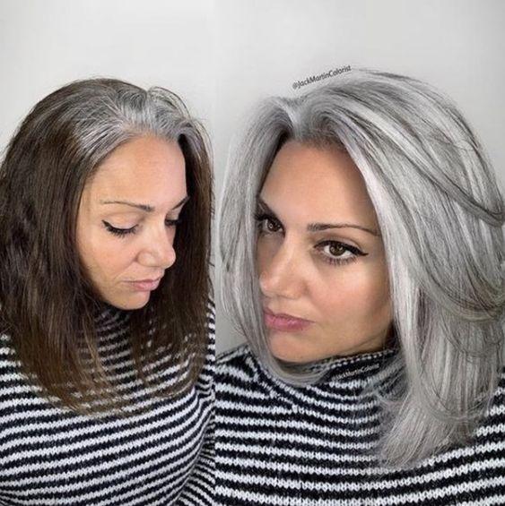 елегантно каре на сиви коси