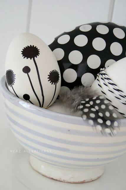 черно и бяло украса на <a href=