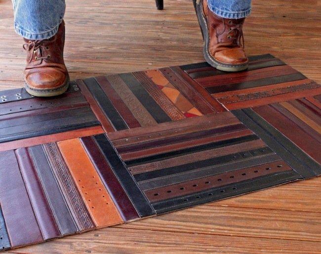 килимче от кожени колани