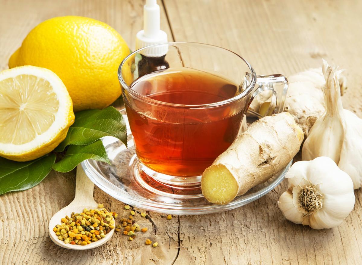 Чай с лимон и джинджифил