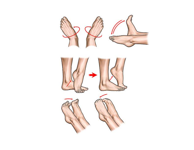 упражнения пръсти на краката