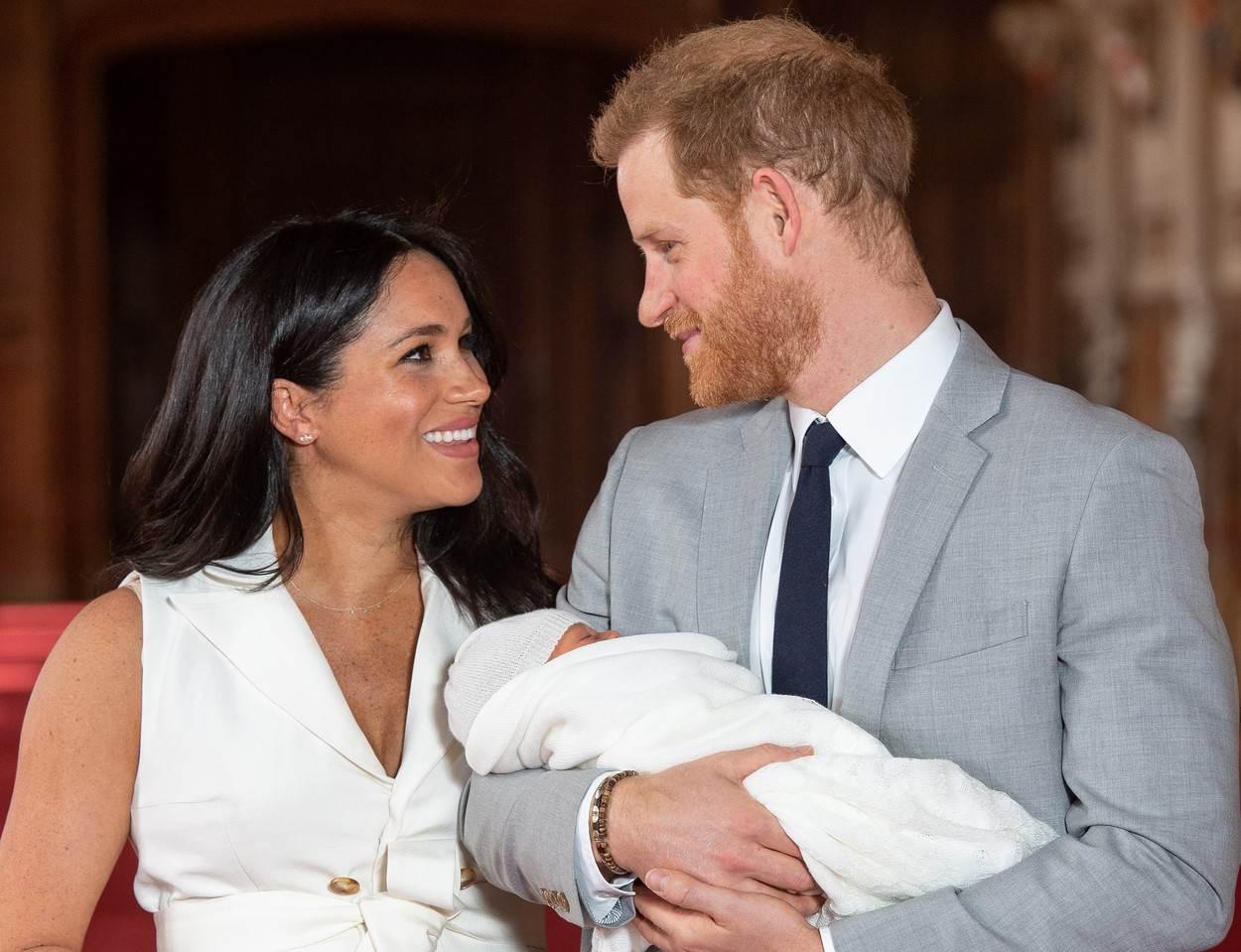 Меган и Хари бебе