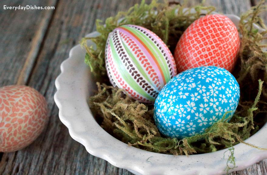 украса на яйца със салфетки