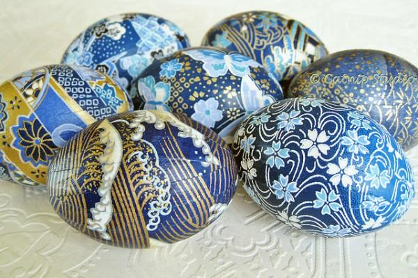 красиви яйца с декупаж