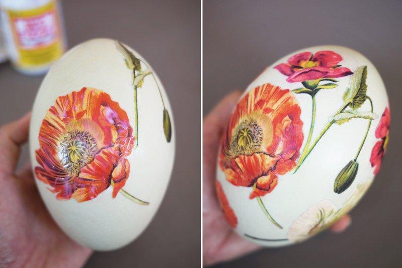 нежно яйце с декупаж