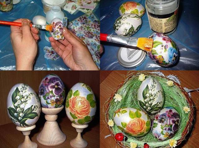 яйца с цветни мотиви