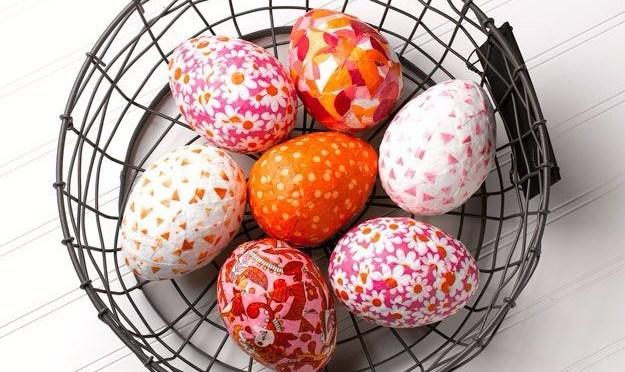 свежи яйца с декупаж