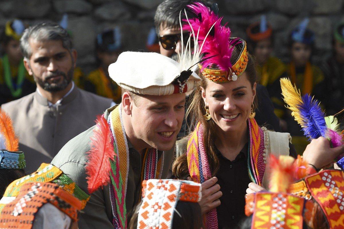 Кейт и Уилям в Пакистан