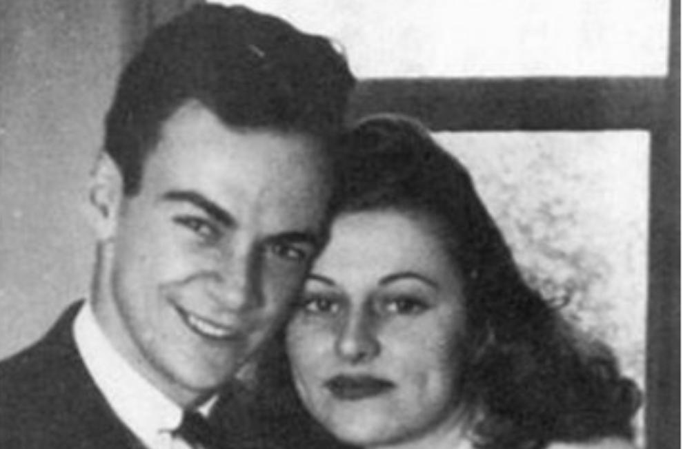 Ричард Файнман със съпругата си