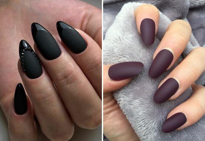 матови бадемовидни нокти