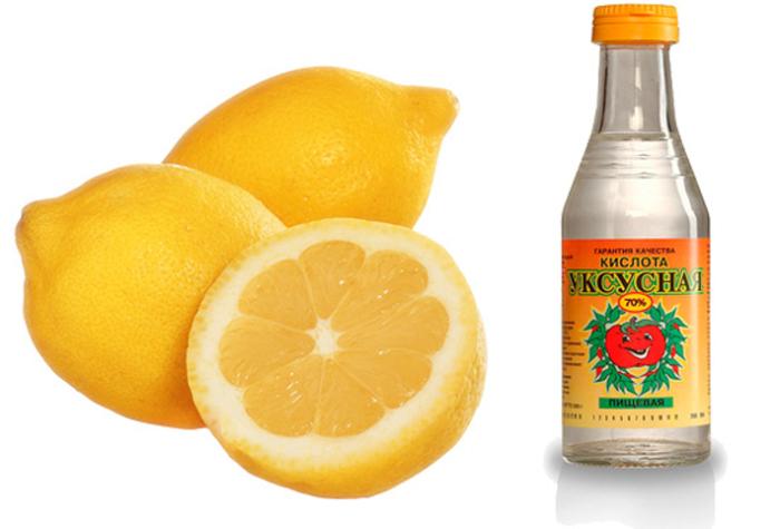 оцет и лимон