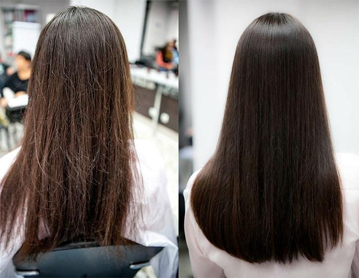 накъсани краища на косата