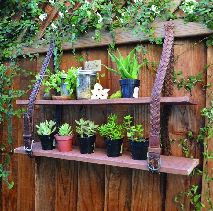 градински рафт от колани