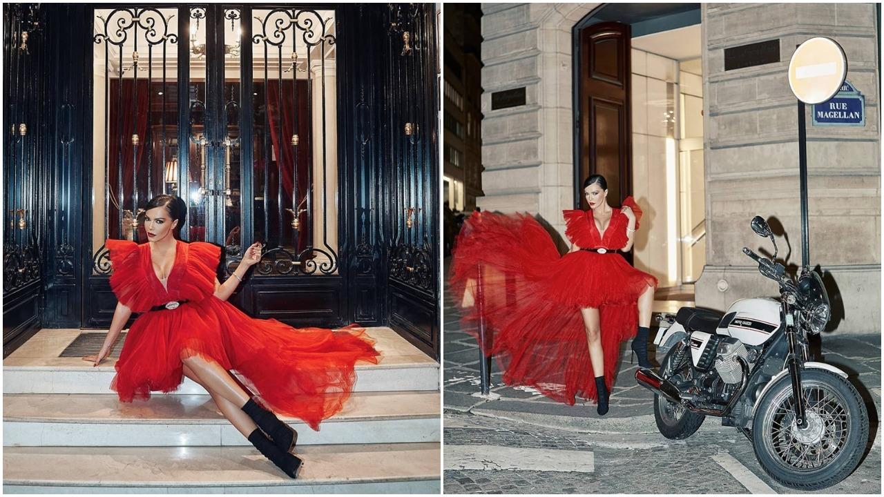 Галена червена рокля