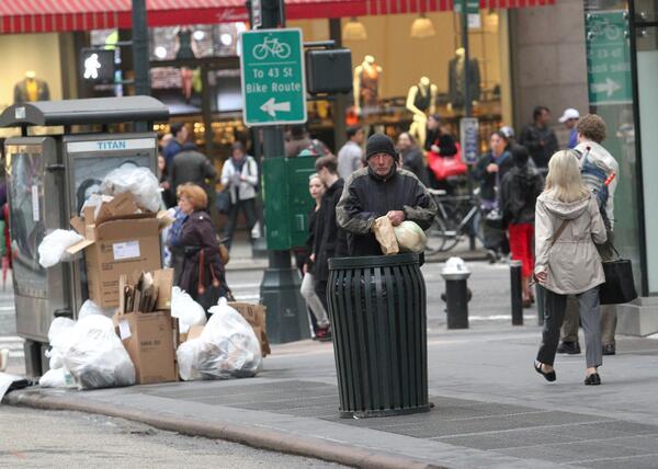 бездомник на улицата