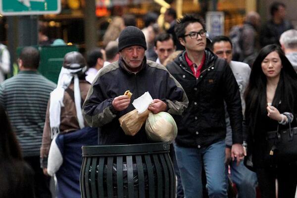 бездомник в Ню Йорк